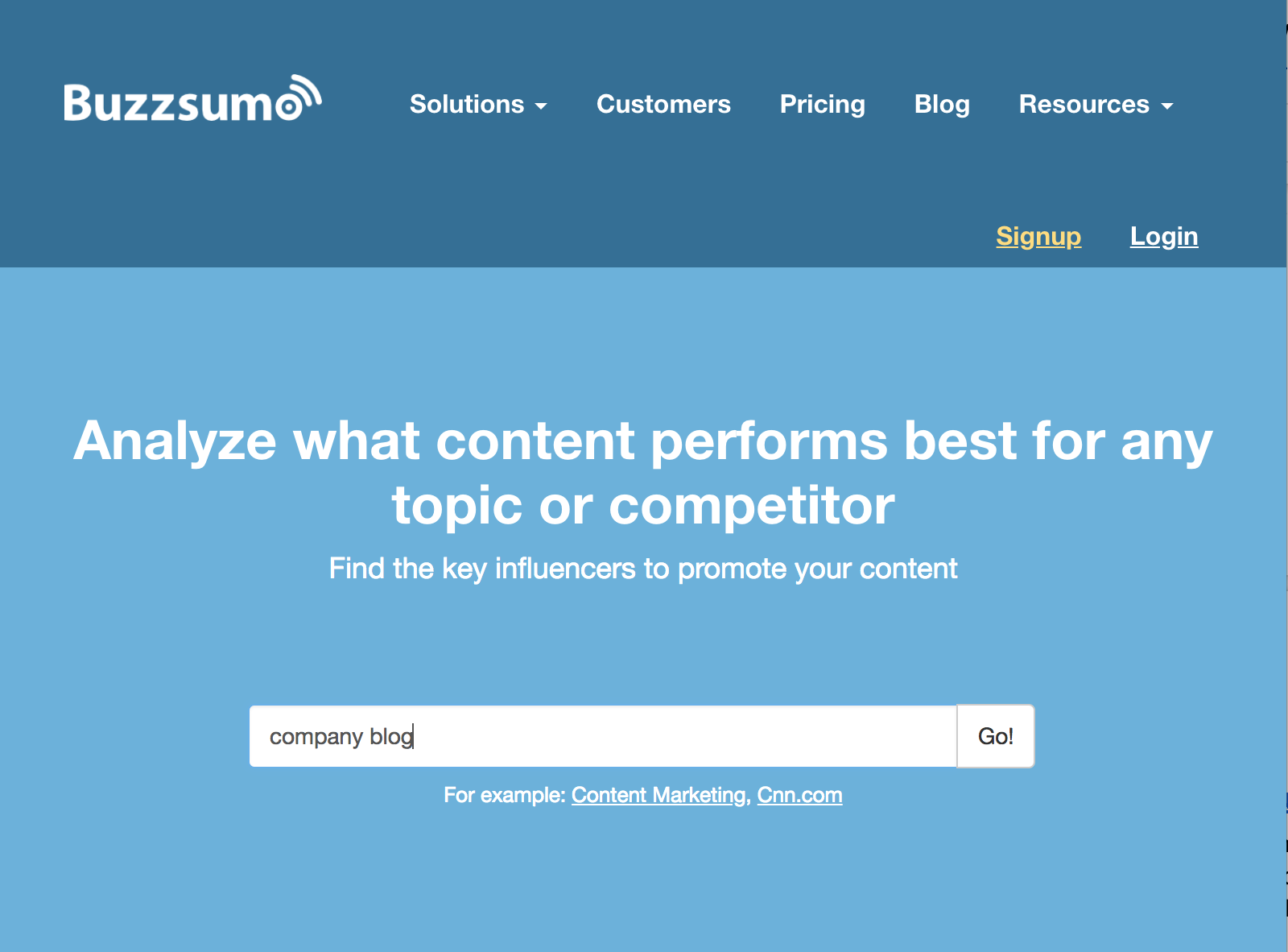 Buzzsumo is great for building your company blog