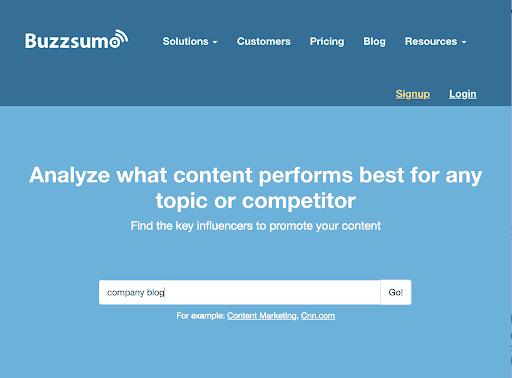 buzz sumo company blog