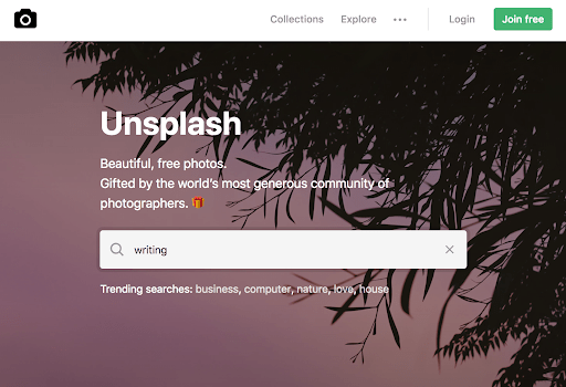unsplash for a company blog image