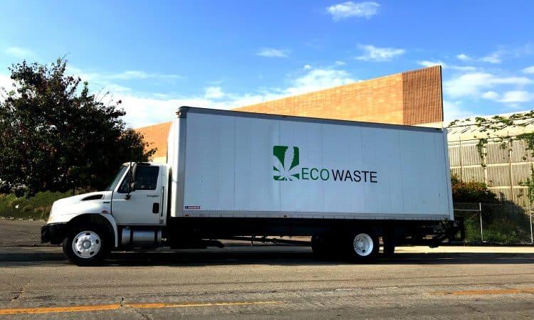 marijuana waste disposal truck, company uses a cannabis seo strategy